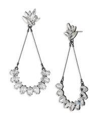 ABS By Allen Schwartz - Metallic Black Magic Crystal Navette & Teardrop Earrings - Lyst