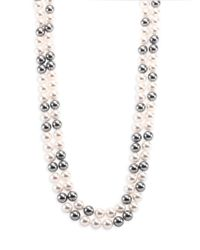 Adriana Orsini - Metallic Faux Pearl Double-strand Necklace/70 - Lyst