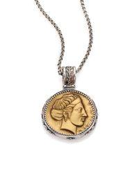Konstantino - Metallic Kerma Olympia Bronze & Sterling Silver Coin Pendant - Lyst