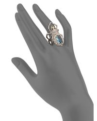 Alexis Bittar - Metallic Elements Crystal-encrusted Spider Cocktail Ring - Lyst