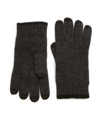 Saks Fifth Avenue - Gray Color-tipped Cashmere Gloves for Men - Lyst