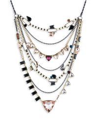 ABS By Allen Schwartz - Metallic Make Me Blush Layered Triangle Necklace - Lyst