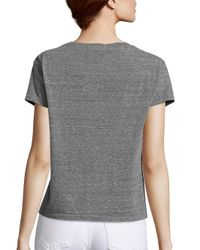 AMO - Gray Essential Twist Short Sleeve T-shirt - Lyst