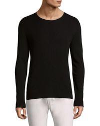 John Varvatos - Black Crewneck Sweater for Men - Lyst