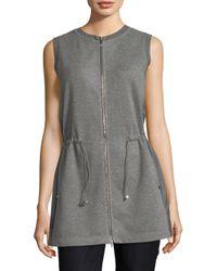 Lafayette 148 New York - Gray Lalita Silk & Nylon Vest - Lyst