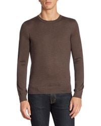 Isaia | Natural Long Sleeve Cashmere Tee for Men | Lyst