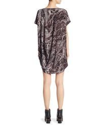 Issey Miyake - Black Draped Jersey Dress - Lyst