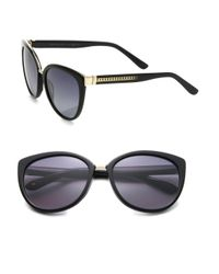 Jimmy Choo - Black Danas 56mm Modified Cat Eye Sunglasses - Lyst