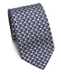 Ferragamo - Blue Elephant Silk Tie for Men - Lyst