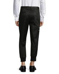 Neil Barrett - Black Rib Cuff Pants for Men - Lyst