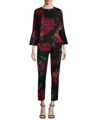 Trina Turk - Multicolor Floral Splendid Bell Sleeve Top - Lyst