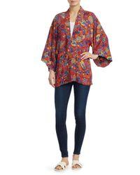 Elizabeth and James - Red Drew Printed Kimono Jacket - Lyst