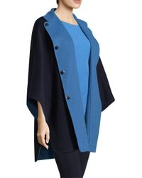 St. John - Blue Doubleface Angora Cashmere Reversible Jacket - Lyst