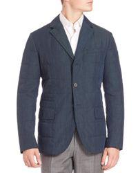Saks Fifth Avenue - Blue Notched Lapel Sportcoat for Men - Lyst