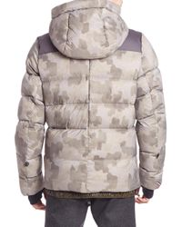Moncler Blue Hooded Down Puffer Jacket for men