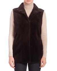 Saks Fifth Avenue - Brown Sheared Mink Fur Vest - Lyst