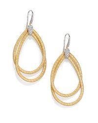 Marco Bicego - Metallic Cairo Diamond & 18k Yellow Gold Large Double Teardrop Earrings - Lyst