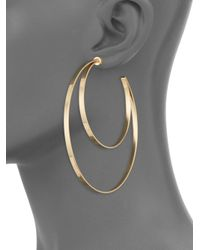 Jennifer Zeuner - Metallic Zume Double Hoop 18k Yellow Vermeil Earrings - Lyst