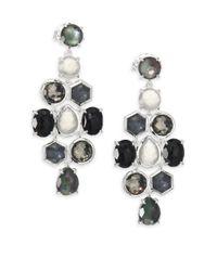 Ippolita - Metallic Rock Candy Black Tie Semi-precious Multi-stone & Sterling Silver Cascade Chandelier Earrings - Lyst