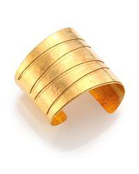 Nest - Metallic Hammered Cuff Bracelet - Lyst