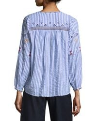Joie - Blue Archana Stripe Blouse - Lyst