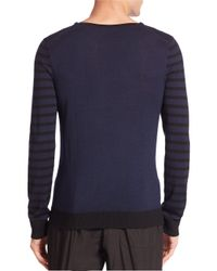 Tomas Maier - Blue Long Sleeve Tee for Men - Lyst