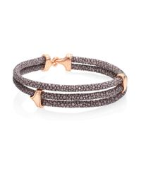 Stinghd | Sterling Silver And Leather Stingray Hinged Bracelet | Lyst
