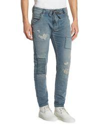 DIESEL - Blue Slim-fit Krooley Jogger Jeans for Men - Lyst