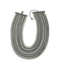 ABS By Allen Schwartz - Multicolor Rockstars Multi-row Crystal Torsade Necklace - Lyst