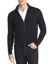 Victorinox - Blue Front Zip Cardigan for Men - Lyst