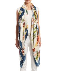 Loro Piana - Multicolor Tuscany Travel Scene Shawl - Lyst