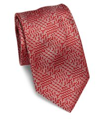 Brioni - Dual-tone Textured Silk Tie for Men - Lyst