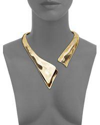 Alexis Bittar - Metallic Liquid Golden Collar Necklace - Lyst