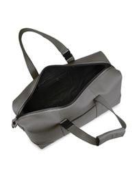 Uri Minkoff - Gray Leather Weekender Bag for Men - Lyst