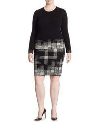 Stizzoli - Black Plus Printed Skirt - Lyst