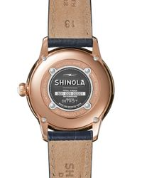 Shinola - Multicolor The Gail Pvd Rose Gold & Alligator Strap Watch - Lyst