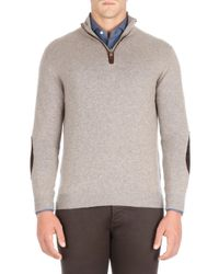 Isaia - Natural Half-zip Cashmere Sweater for Men - Lyst