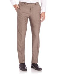 Saks Fifth Avenue - Natural Straight-leg Pants for Men - Lyst