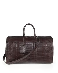 Santiago Gonzalez - Brown Crocodile Weekender Bag - Lyst