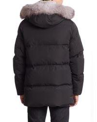 Andrew Marc - Black Freezer Rabbit Fur Jacket for Men - Lyst