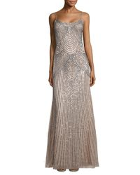 Basix Black Label - Pink Sequined Slip Gown - Lyst