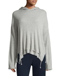 Skin - Gray Ingrid Waffle-knit Hoodie - Lyst