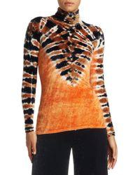 Proenza Schouler - Orange Velvet Jersey Turtleneck Top - Lyst