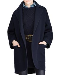 Polo Ralph Lauren | Blue Madison Double-face Wool Coat | Lyst