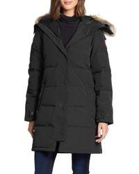 Canada Goose - Black Shelburne Fur-trim Parka - Lyst