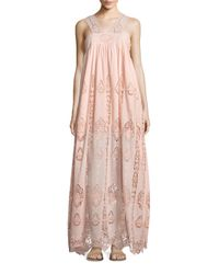 Nightcap | Pink Pixie Lace Gown | Lyst
