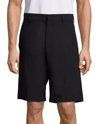 McQ Alexander McQueen | Black Solid Pull-on Shorts for Men | Lyst