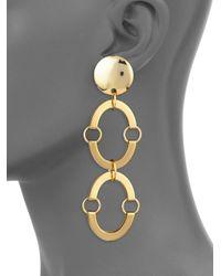 Lele Sadoughi - Metallic Golden Arch Earrings - Lyst