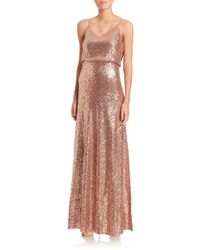 Jenny Yoo - Brown Jules Sequin Tulle Gown - Lyst