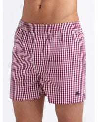Burberry - Red Cotton Boxers for Men - Lyst